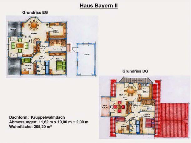 Grundriss Einfamilienhaus Bayern 2