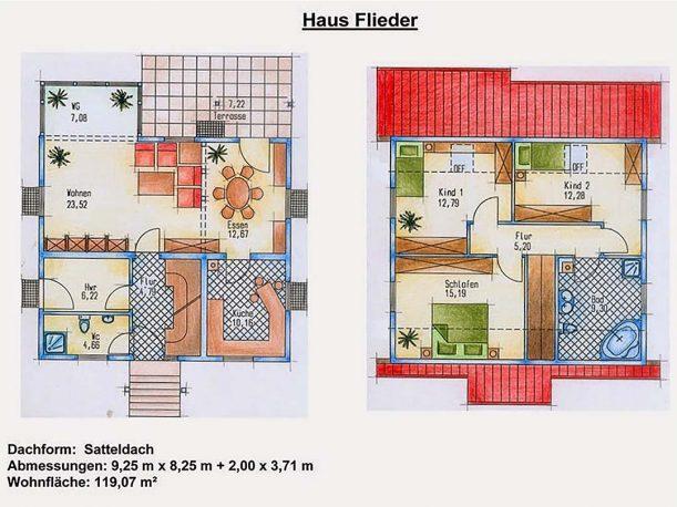 Grundriss Einfamilienhaus Flieder